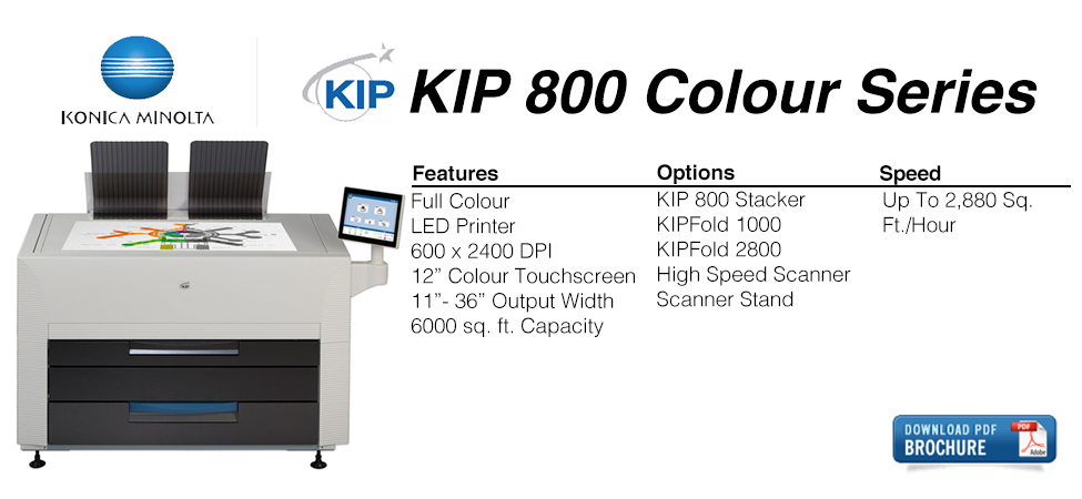 KIP 800 Series Copier Card